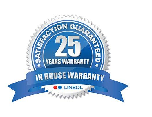 25 Year In House Warranty