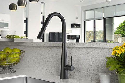Aria Pull Down Matte Black Sink Mixer