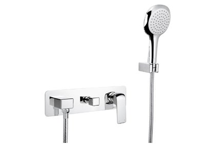 AVA Wall Mixer with Divertor and Hand Shower