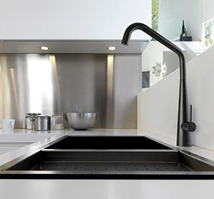 Elias matt black sink mixer