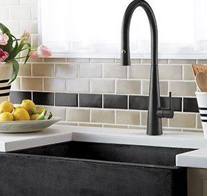 Giacomo pull down matt black sink mixer