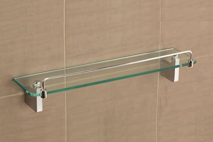 Tiana Glass Shelf With Rail