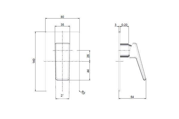 Madi Bath/Shower Mixer Drawing