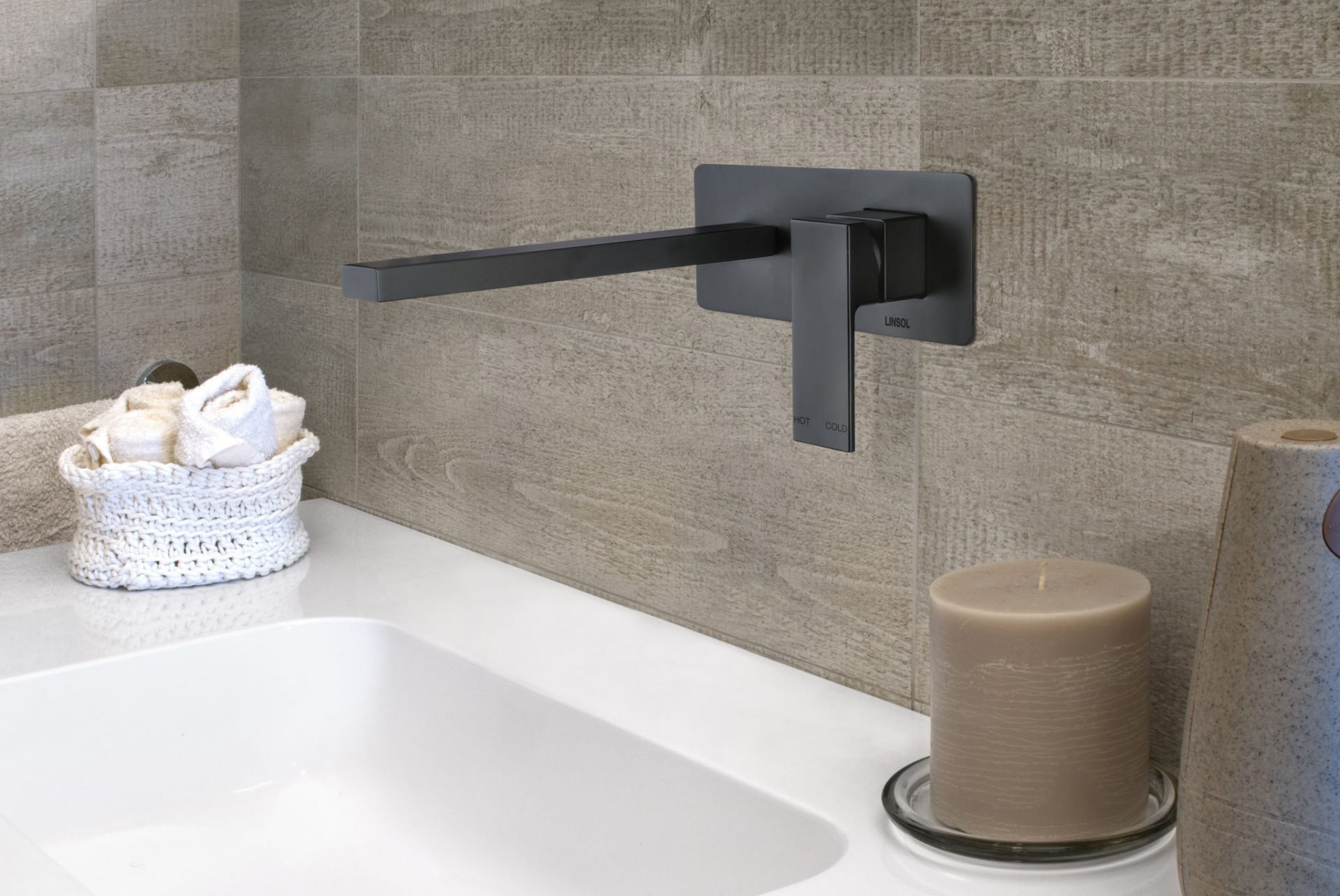 Joseph Matte Black Wall Basin Mixer
