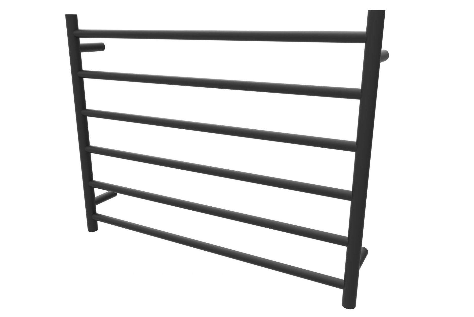 Allegra Matte Black 6 Bar Wide Heated Towel Rail
