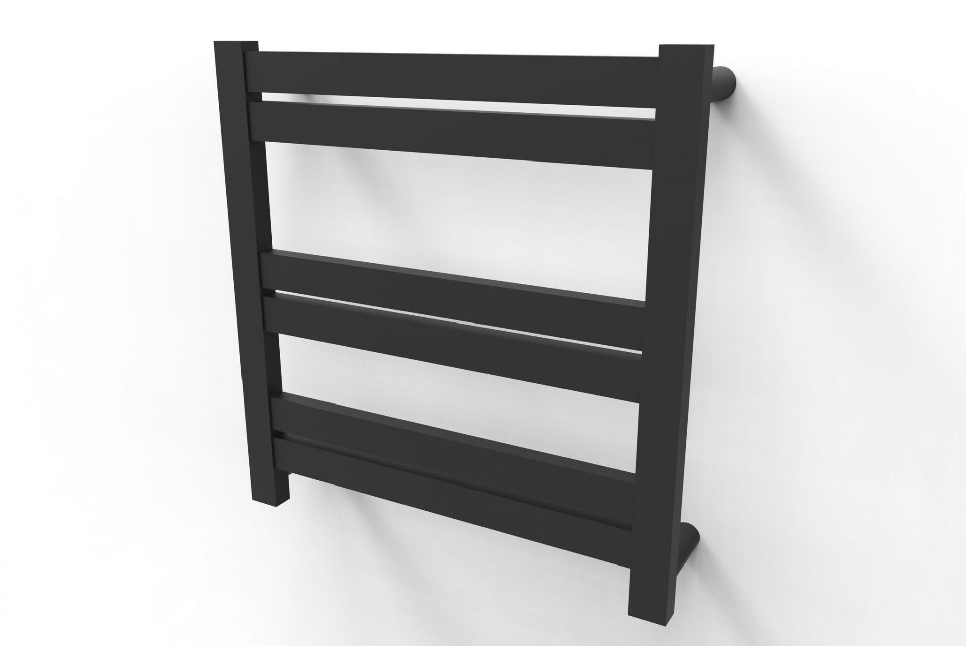 Siena Matte Black 6 Bar Heated Towel Rail
