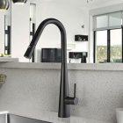 Arial matt black sink mixer