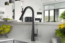 Arial matt black sink mixer