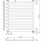 Fury-10-bar-heated-towel-rail-drawing