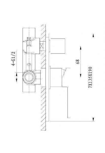 Tiana-wall-mixer-with-divertor-drawing