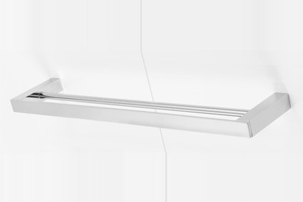 Alpha double towel rail 600mm
