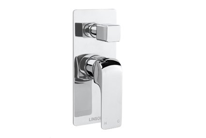Ava shower bath mixer with divertor
