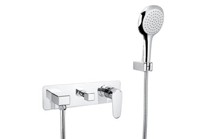 Avanti wall mixer with divertor and hand shower