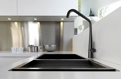 Modern Kitchen Sink White