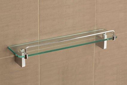 Tiana Glass Shelf With Rail