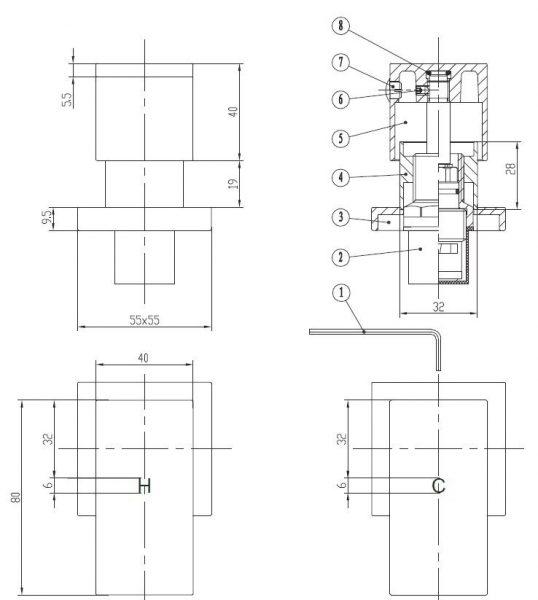 Tiana-wall-top-assembly-drawing