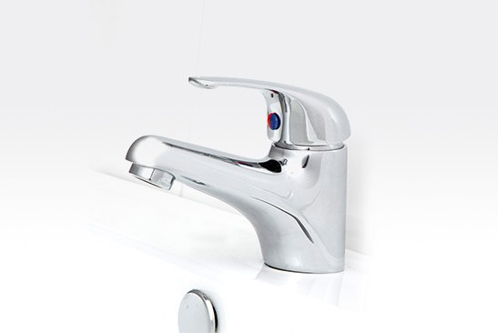 Banjo basin Mixer Solid Handle