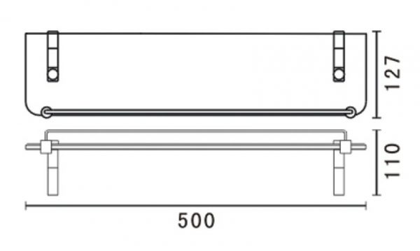 tiana-glass-shelf-500mm-drawing