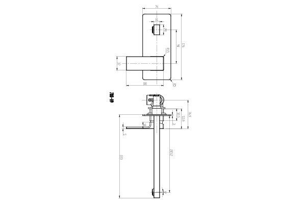 Joseph Wall Basin Mixer Drawing