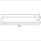 tiana single towel rail