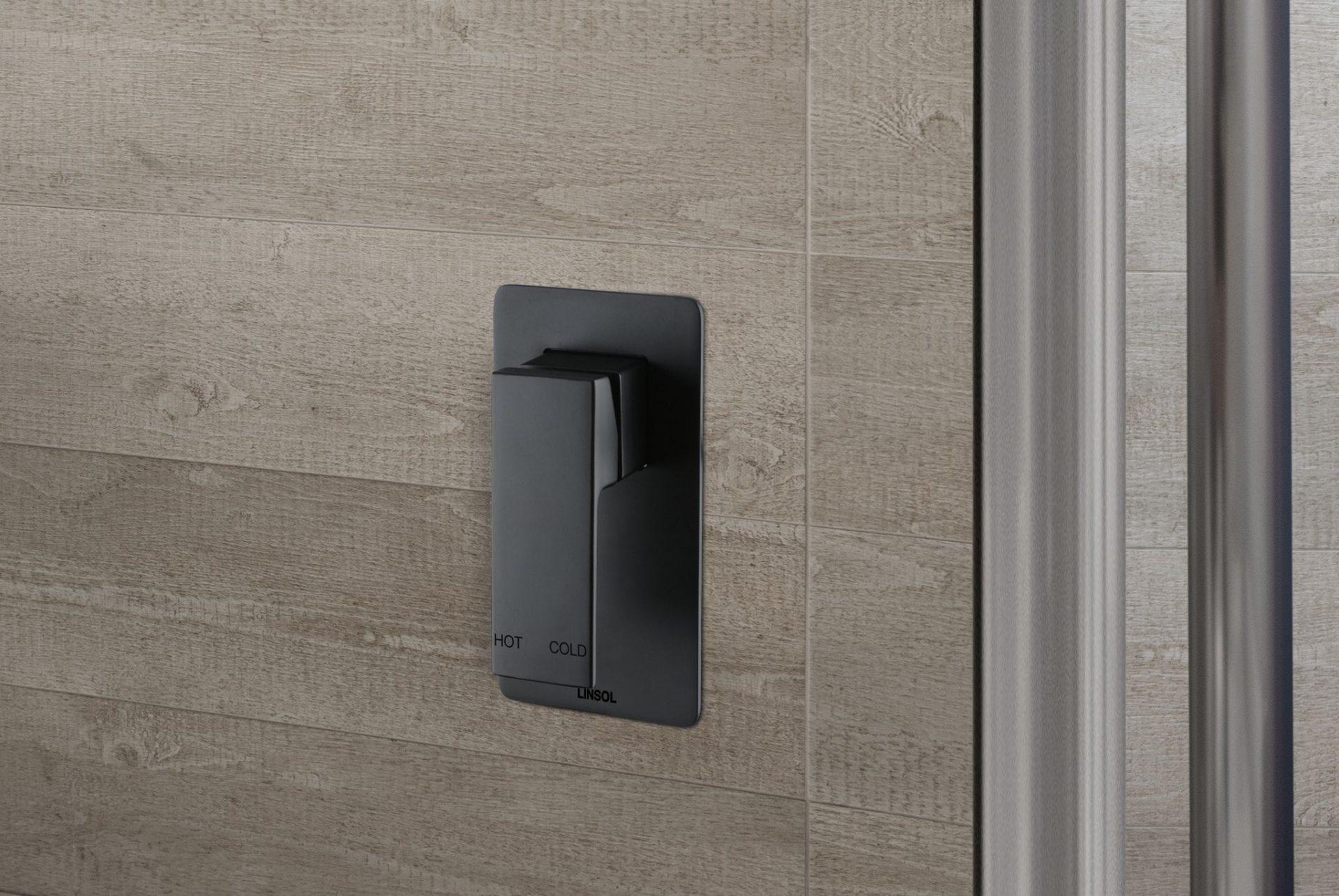 Joseph Matte Black Bath/Shower Mixer