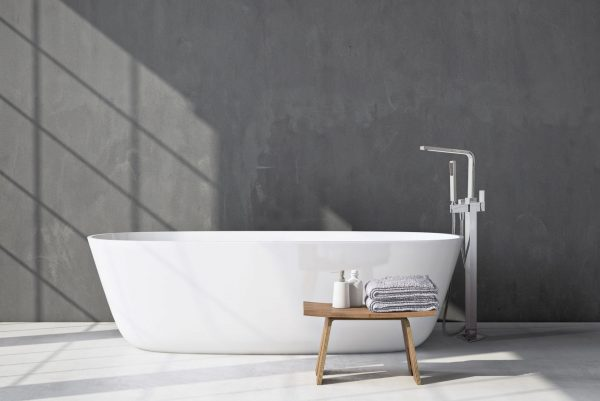 Linsol Alessia Free Standing Bath Filler ALES-01 Lifestyle Image 547 x 366