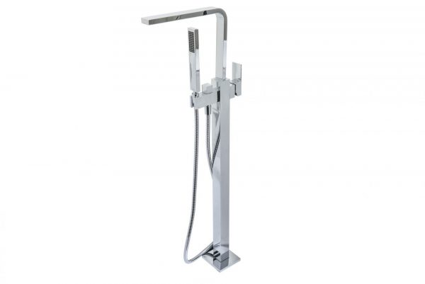 Linsol Alessia Free Standing Bath Filler ALES-01 White Background Image 547 x 366
