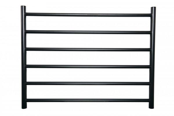 Linsol Allegra 6 Bar Heated Towel Rail Matte Black White Background Image 2 547 x 366