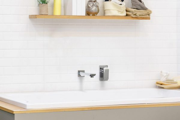 Linsol Ava Bath Spout and Wall Mixer AVA-11 and AVA-03 Lifestlye Image 547 x 366