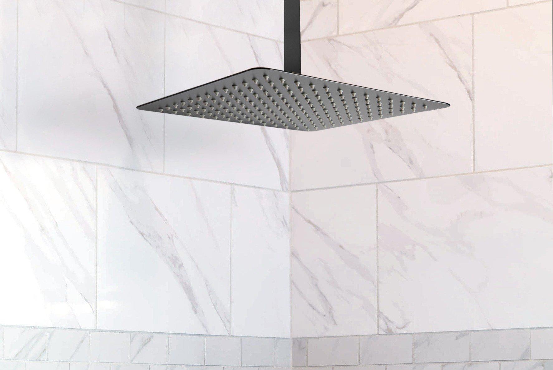 Rush Matte Black Shower Outlet