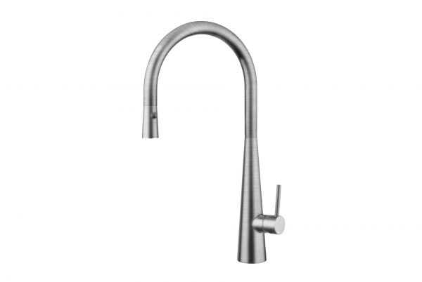 LINSOL Giacomo Brushed Nickel Pull Out Mixer White 547 x 366