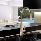 Linsol Giacomo Oiled Bronze Pull Down Mixer GIA-OB-01RE Lifestyle