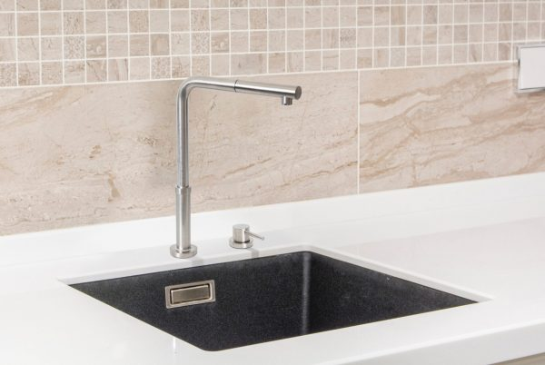 Linsol Domena Brushed Stainless Telescopic and Pul Out Mixer DOMENA-01 Lifestyle 2 547x366