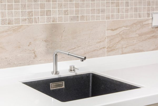 Linsol Domena Brushed Stainless Telescopic and Pul Out Mixer DOMENA-01 Lifestyle 547x366