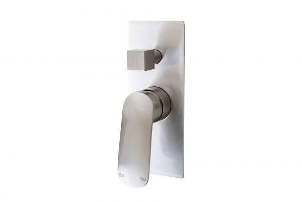 Linsol Hudson Brushed Nickel Wall Mixer with Divertor HUD-BN-04 White Background 547x366