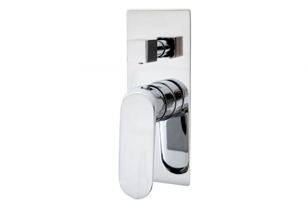 Linsol Massimo Chrome Wall Mixer with Divertor MASS-04 White Background 547x366