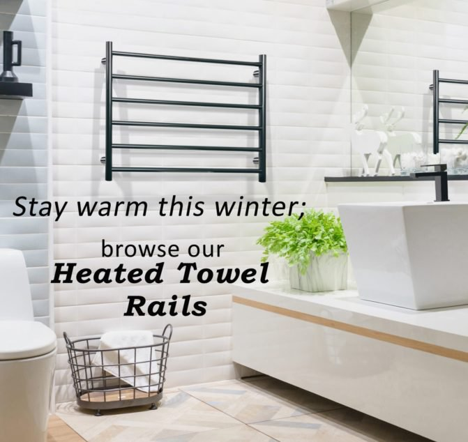 Linsol Home Allegra Black Heated Towel Rail