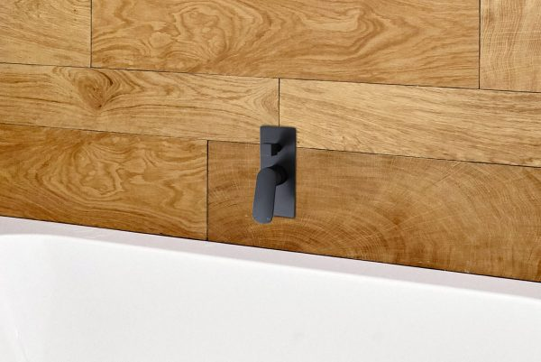Linsol Hudson Matte Black Wall Mixer with Divertor HUD-MB-04 Lifestlye 547x366