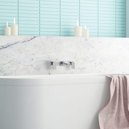 Linsol Natalie Bath Outlet and Joseph Wall Top Assemblies NAT-025 and JOS-06 Lifestyle Image 2 square